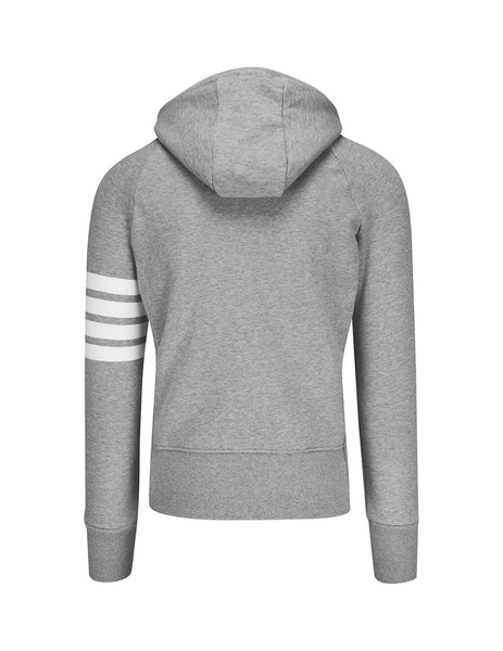 Thom Browne Men's Giulio Fashion Light Grey Engineered 4-Bar Hoodie MJT022H00535068