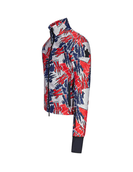 3 Moncler Grenoble Scribble Coloured Cardigan 09I8G703408029F778