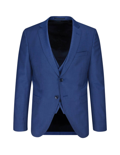 BOSS Men's Giulio Fashion Open Blue Reymond/Wenten Three-Piece Suit 50412325473
