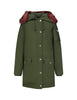 KENZO Women's Giulio Fashion Dark Khaki Faux Fur Trim Coat F962OU01955151
