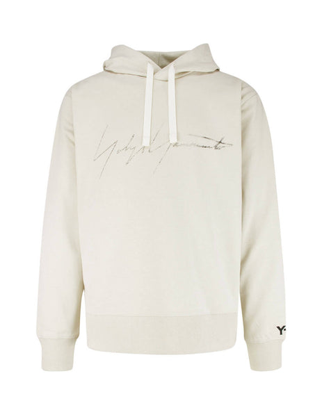 Y-3 Men's Giulio Fashion Ecru Signature Hoodie FP8692