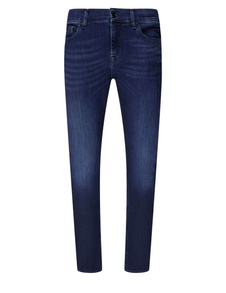 7 For All Mankind Men's Giulio Fashion Indigo Blue Ronnie Luxe Performance Jeans JSD4R750PC
