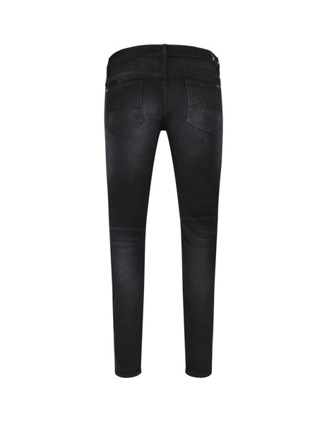 Men's 7 For All Mankind Ronnie Tapered Stretch Tek Jeans in Arrow Black. JSMVA490AR