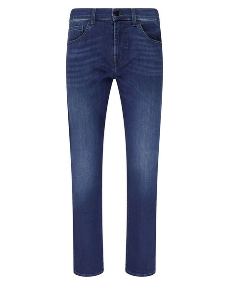 7 For All Mankind Men's Giulio Fashion Indigo Blue Slimmy Luxe Performance Jeans JSMSR750PC