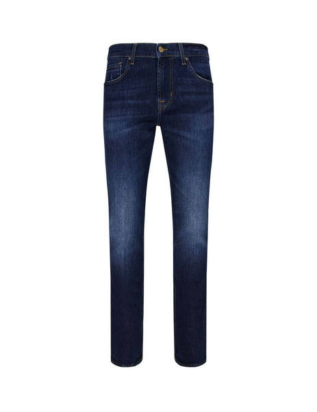 Men's 7 For All Mankind Slimmy Peak Jeans in Deep Blue. JSMSL390PE