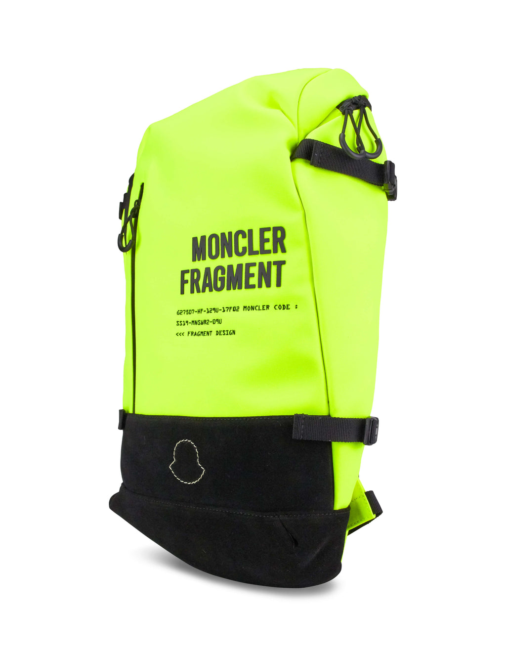 7 Moncler Fragment Hiroshi Fujiwara Men's Giulio Fashion Yellow Embroidered Logo Backpack 0061200549ZM150