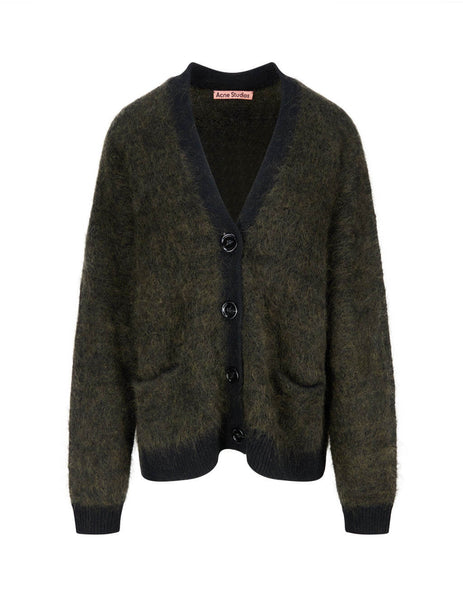 Brushed Mohair-Blend Cardigan