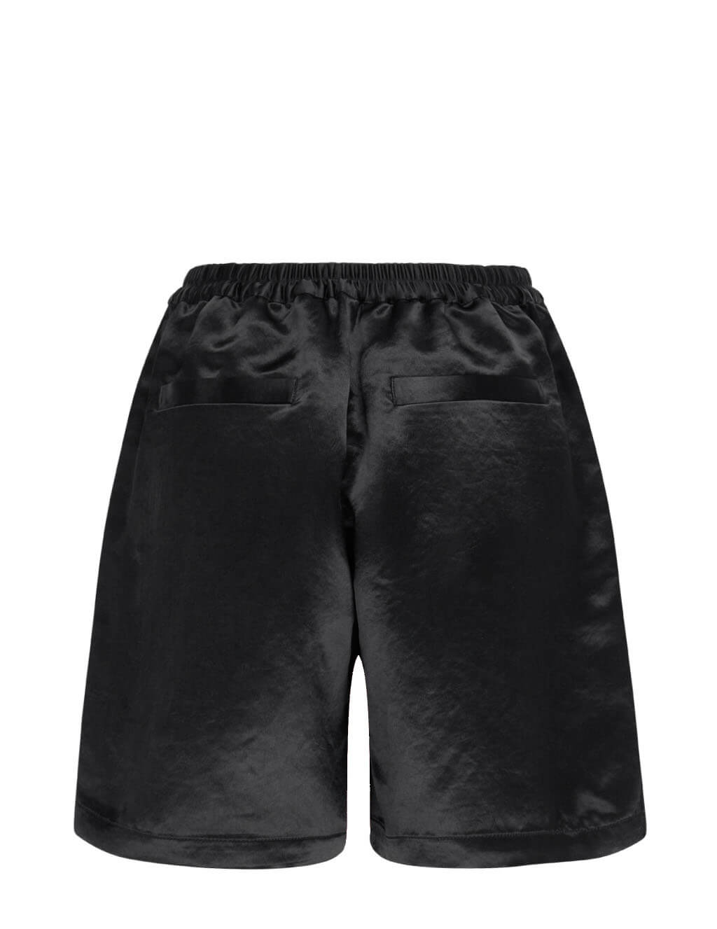 Women's Acne Studios Ren Fluid Satin Shorts in Black - AE0039-900