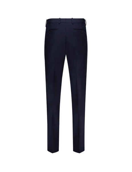 Men's Navy Alexander McQueen Classic Panama Suiting Trousers 615652QPS474100