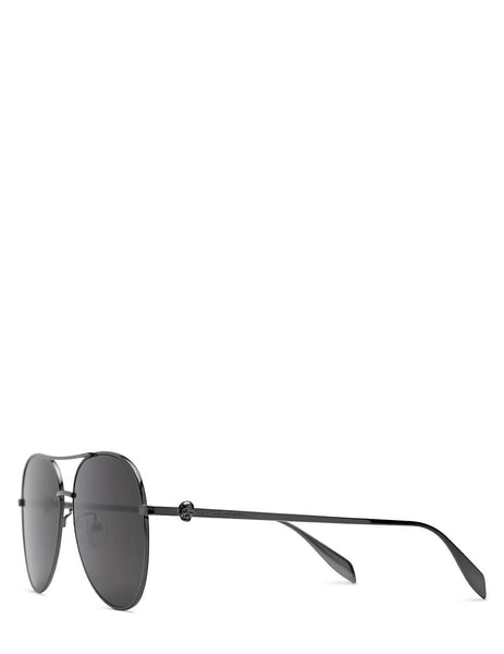 Alexander McQueen Skull Aviator Sunglasses in Black - AM0274S001