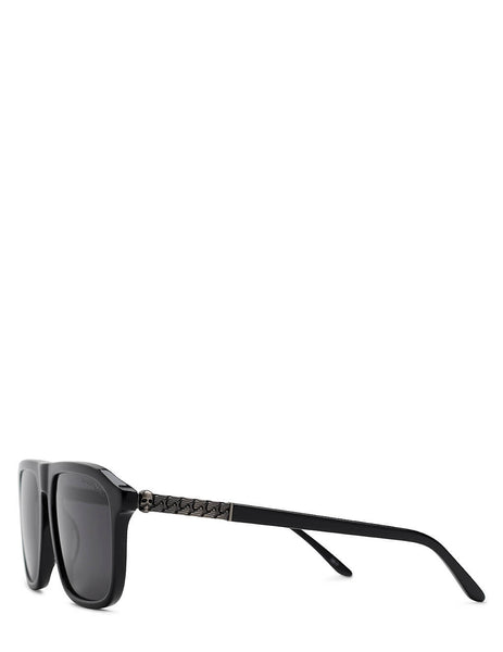 Alexander McQueen Square Frame Sunglasses in Black - AM0321S001