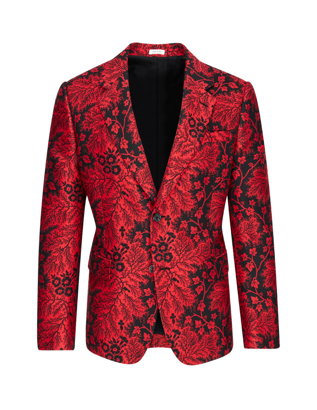 Alexander McQueen Men's Red Ivy Creeper Jacquard Jacket 595140QOR581062