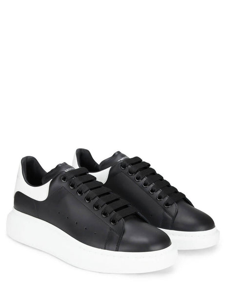 Alexander McQueen Men's Giulio Fashion Black & White Oversized Sneakers 553680WHGP51070
