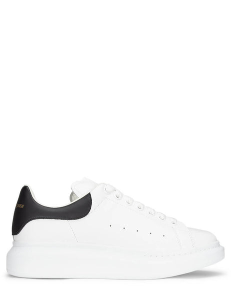 Alexander McQueen Men's White/Black Oversized Sneakers 553680WHGP59061