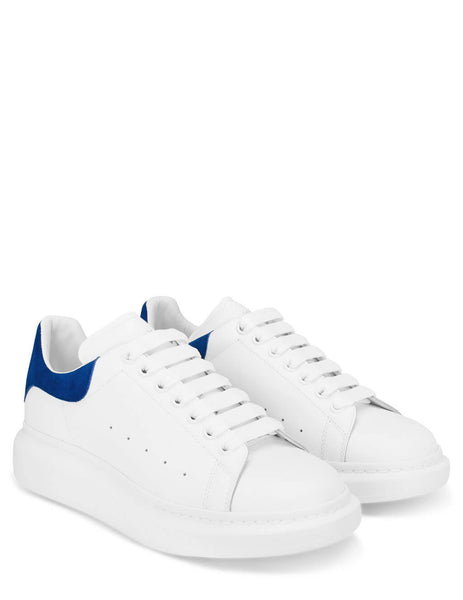 Alexander McQueen Men's White/Paris Blue Oversized Sneakers 553680WHGP79086