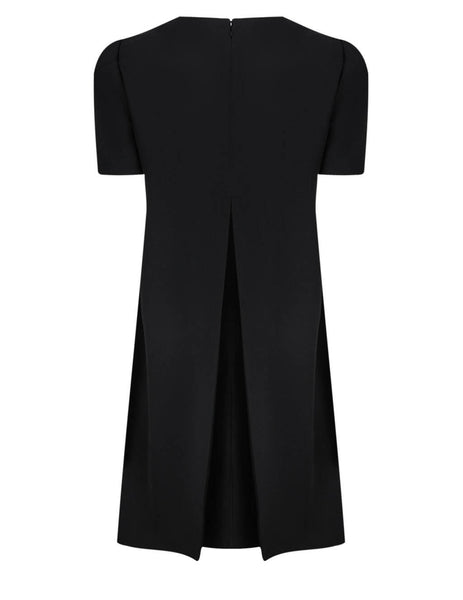Alexander McQueen Black Cape Back Mini Dress 646250QJAAC1000