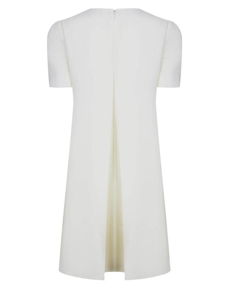 Alexander McQueen Soft White Cape Back Mini Dress 646250QJAAC9016