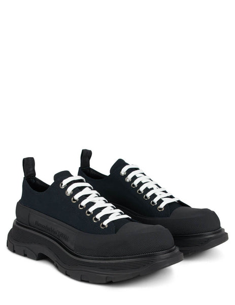 Alexander McQueen Black Chunky Low-Top Sneakers 604257W4L321000
