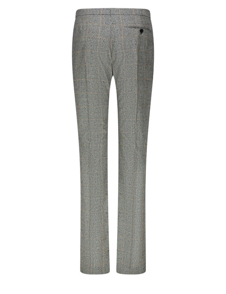 Alexander McQueen Distressed Cigarette Trousers 649669QJABO1080