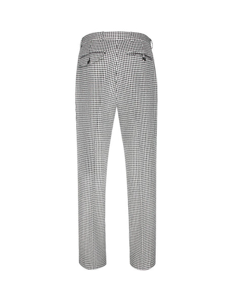 Alexander McQueen Men's Giulio Fashion White Dogtooth Trousers 579563QNU319080