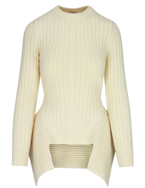 Alexander McQueen Engineered Cable Knit Jumper 650346Q1ATD9004