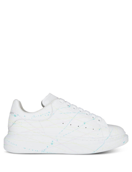 Alexander McQueen Men's Giulio Fashion White Glow In The Dark Sneakers 611190WHXM49035