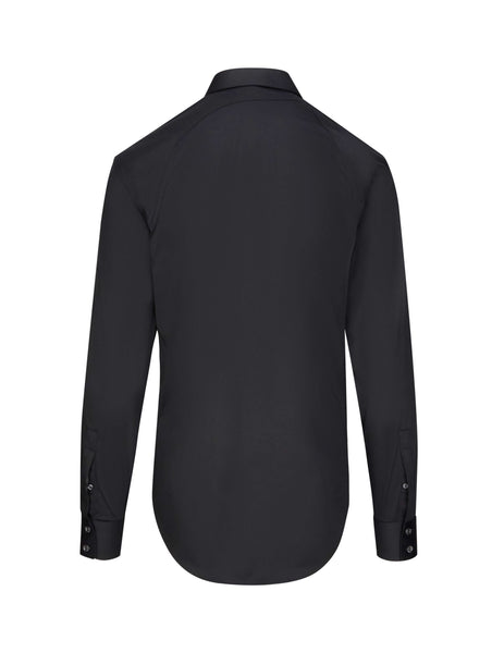 Alexander McQueen Men's Giulio Fashion Black Harness Shirt 579849QNN191000