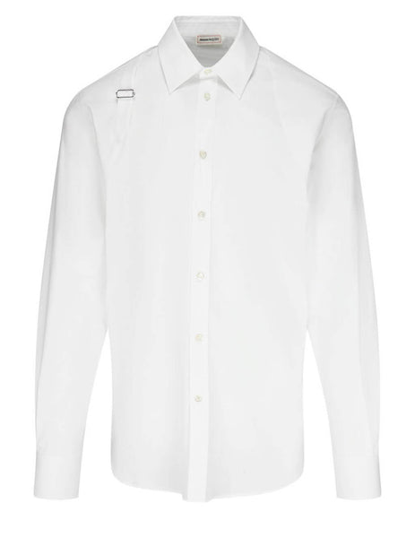 Alexander McQueen Men's White Harness Shirt 624753QQN449000