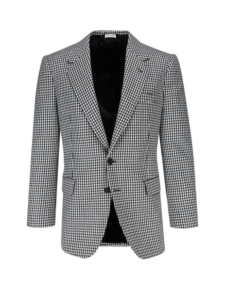 Alexander McQueen Men's Giulio Fashion Black Houndstooth Blazer 567712QNU319080