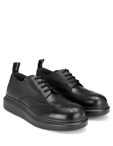 Alexander McQueen Men's Giulio Fashion Black Hybrid Lace-Up Shoes 586200WHX531000