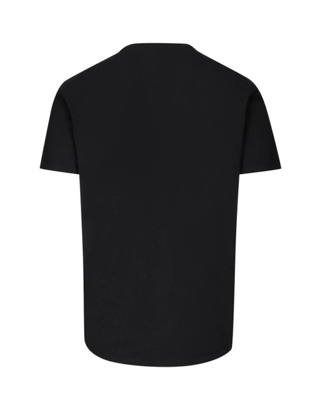 Alexander McQueen Men's Black Ivy Skull Cotton T-Shirt 599560QOZ660901