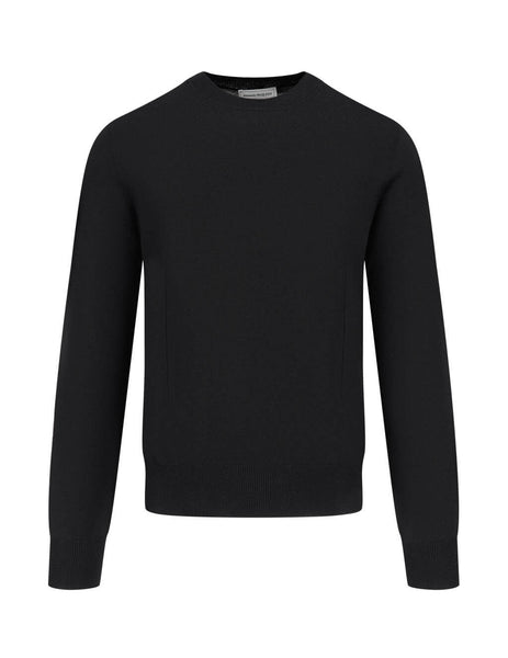 Alexander McQueen Men's Giulio Fashion Black Line Detail Jumper 626455Q1WZM1006