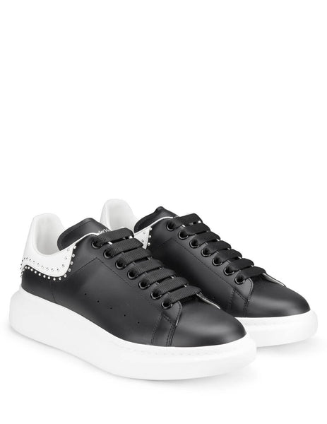 Alexander McQueen Men's Giulio Fashion Black Oversized Sneaker 628017WHTQQ1071