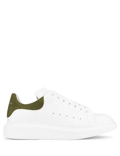 Alexander McQueen Men's Giulio Fashion White/Khaki Oversized Sneakers 553680WHGP79055