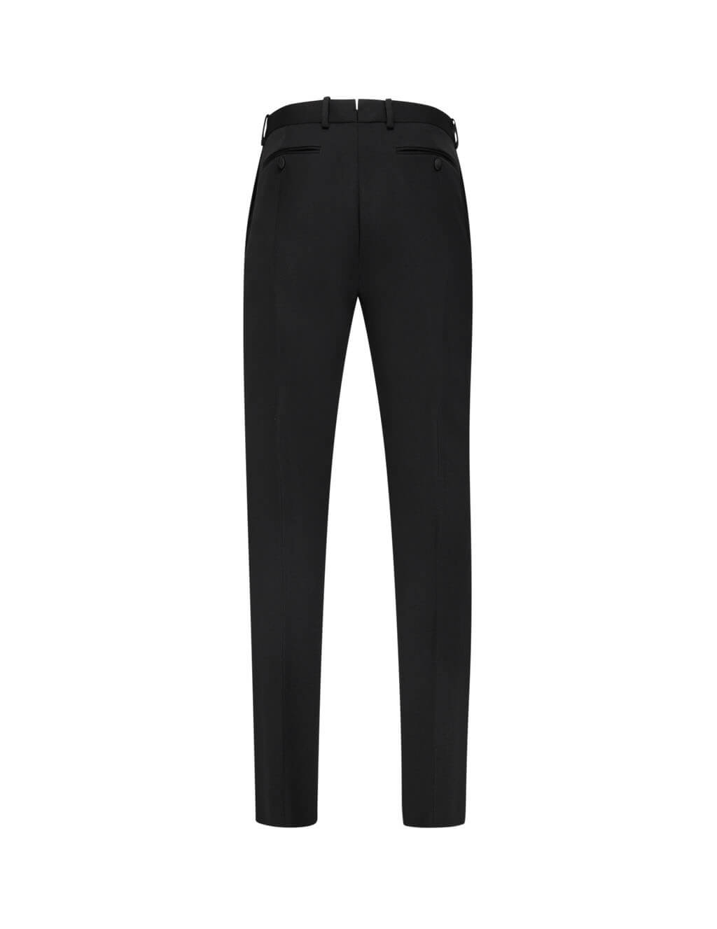 Alexander McQueen Men's Giulio Fashion Black Silk Insert Trousers 599305QOV011000