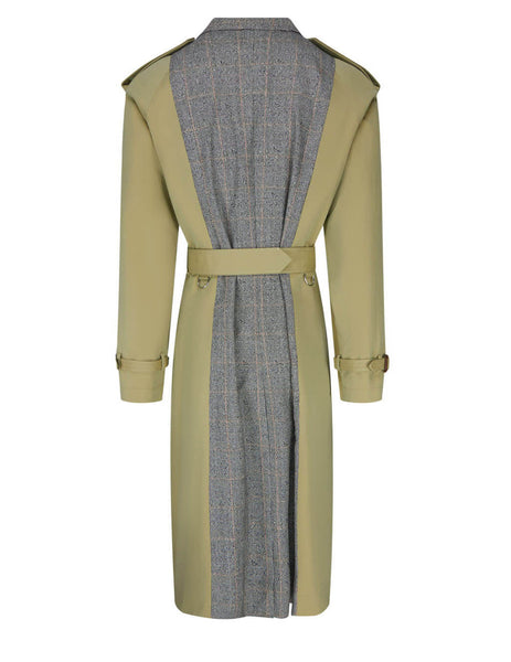 Alexander McQueen Spliced Tailored Trench Coat 646762QQS259502