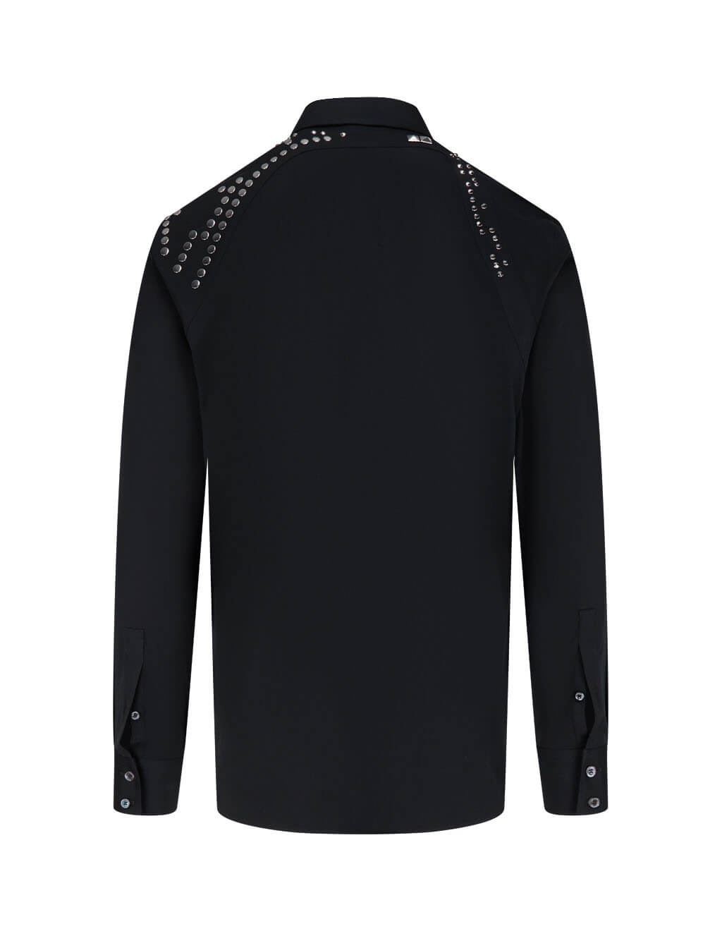 Alexander McQueen Men's Giulio Fashion Black Studded Harness Shirt 608085QON441000