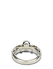 Alexander McQueen Men's Giulio Fashion Silver Textured Skull Ring 554574J160Y0446