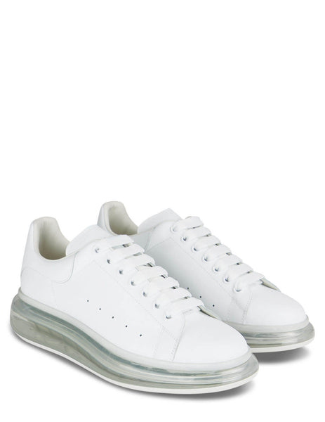 Men's Alexander McQueen Transparent Sole Oversized Sneakers in White/White/White - 604232WHX989000
