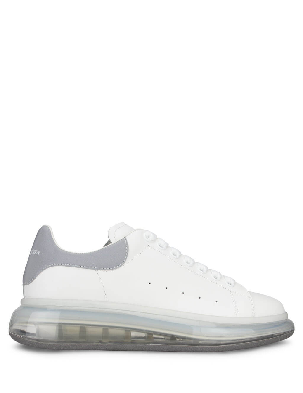 Alexander McQueen Men's White Transparent Sole Oversized Sneakers 610812WHYBH9058