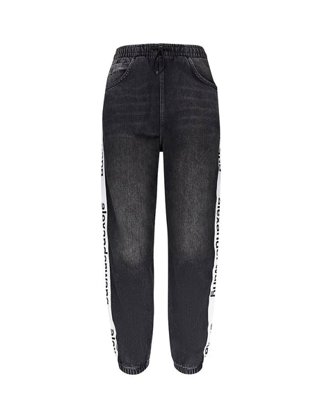 alexanderwang Women's Grey Logo Tape Track Pants 4D994391CF015