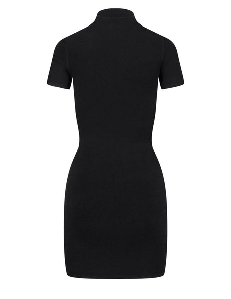 Women's alexanderwang.t Bodycon Logo Patch Tee Dress in Black - 4KC2206013001