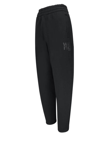 Women's alexanderwang.t Puff Paint Sweatpants in Black - 4CC1204061001