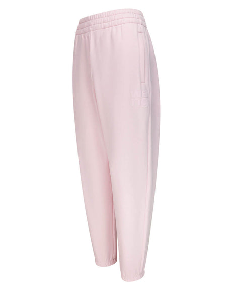 Women's alexanderwang.t Puff Paint Sweatpants in Primrose Pink - 4CC1204061683