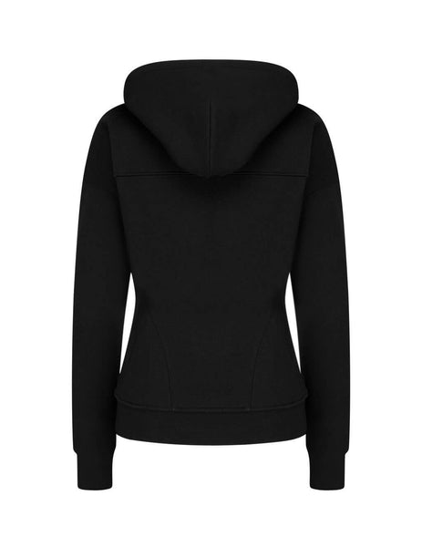 alexanderwang.t Women's Giulio Fashion Black Sculpted Zip-Up Hoodie 4CC2202021 001