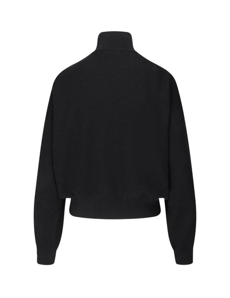 Women's Black T by Alexander Wang Snap Pullover Turtleneck 4KC1201053-001