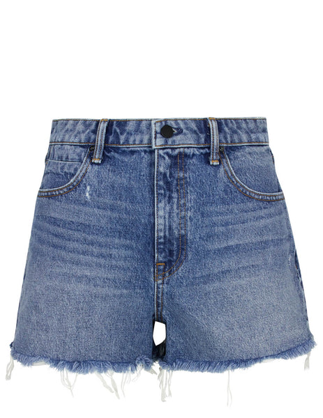 alexanderwang Women's Giulio Fashion Light Indigo Aged Bite Shorts 4D994036AD443