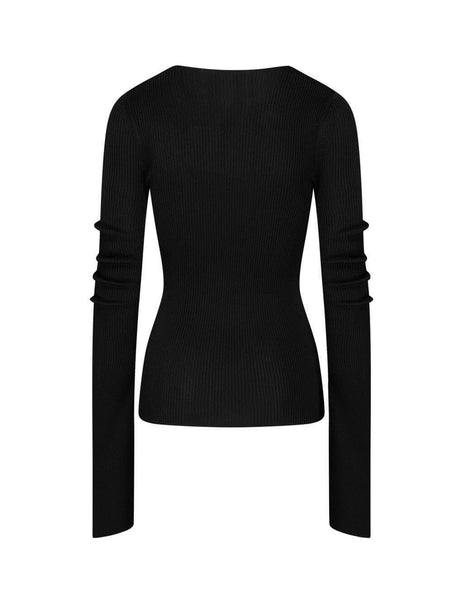 alexanderwang Women's Giulio Fashion Black Chain Insert Top 1KC2201018 001
