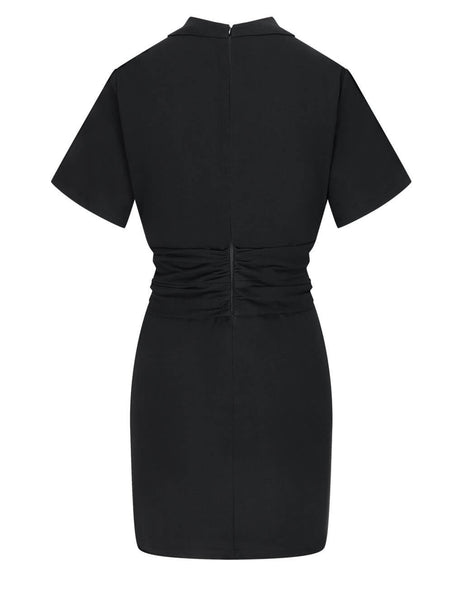 Women's alexanderwang.t Cross Twist Tee Dress in Black - 4CC2216103001