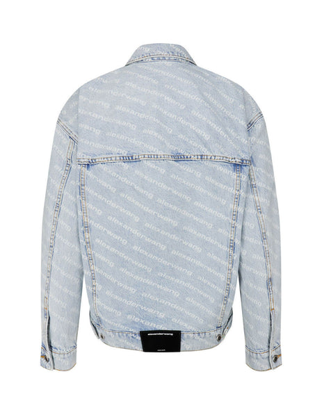 Women's Bleach alexanderwang Falling Back Denim Jacket 4DC2202756270